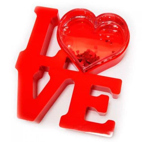 рамка водяная с хлопьями в виде сердечек love подарки на 14 февраля