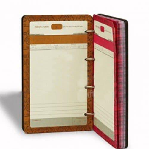 Ежедневник на кольцах с деревянной обложкой