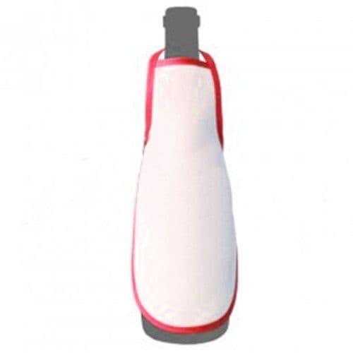 Фартук на бутылку КРАСНЫЙ кант