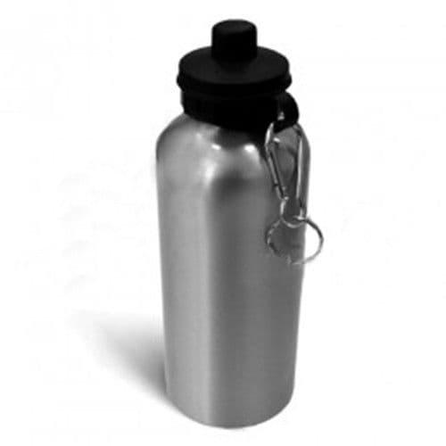 Фляжка алюминиевая с крышкой для питья СЕРЕБРО, 600мл