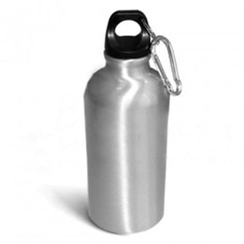 Фляжка алюминиевая СЕРЕБРО большая d=7.3см, 600мл