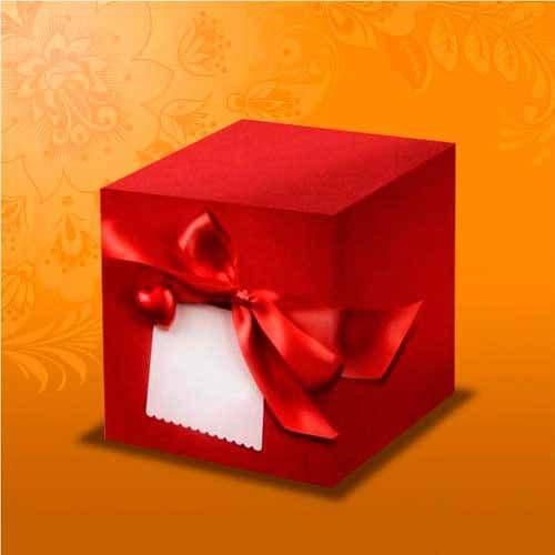 """подарочная коробка для кружки  """"красная с бантом"""" коробки для кружек"""