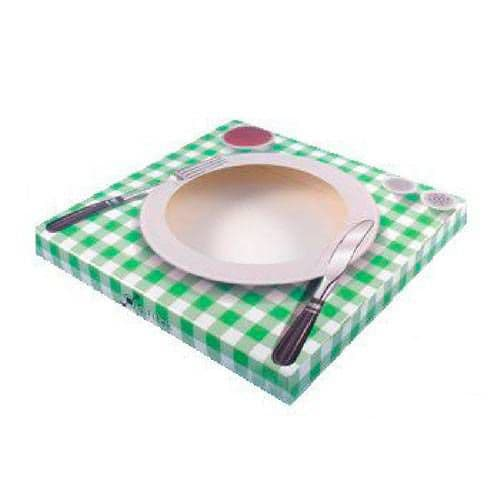 """Коробка подарочная для тарелки с окном """"Сервированный стол"""""""
