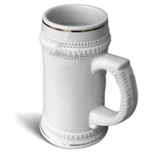 Кружка пивная керамическая с золотой каёмкой