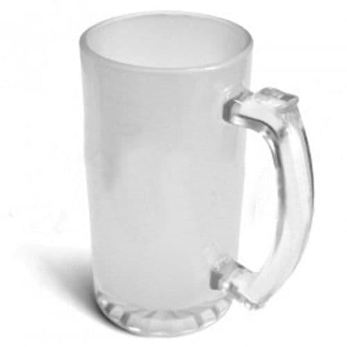 кружка пивная стеклянная матовая, 300 мл бокалы