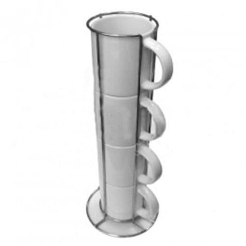 Кружки кофейные 4шт. в металлической подставке