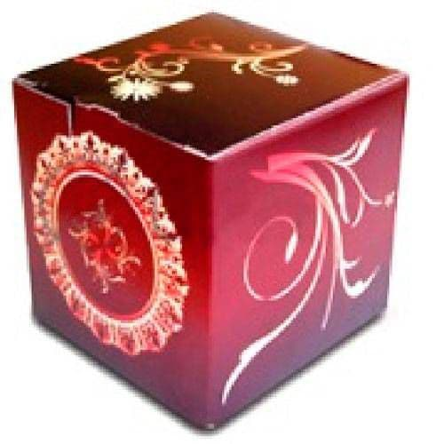 """Подарочная коробка для кружки """"Бордовый винтаж"""""""
