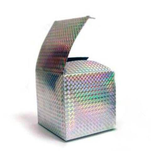 """Подарочная коробка для кружки голография """"Серебро"""" Чешуя"""