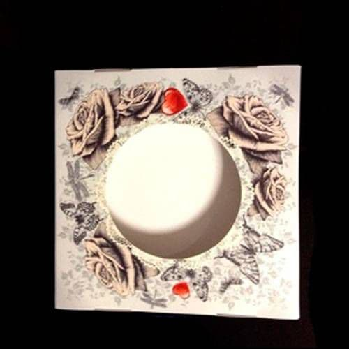 """подарочная коробка для тарелки с окном """"розы"""" коробки для тарелок"""