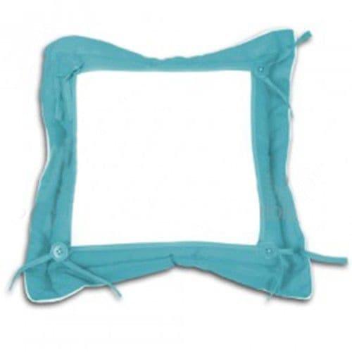 Подушка с наволочкой 40*40 см ГОЛУБАЯ