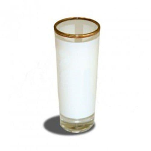 Рюмка стеклянная высокая, золотая каёмка, h=10 см, 120 мл