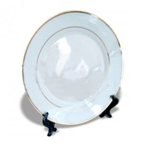 Тарелка каёмка с золотыми полосками d=26см