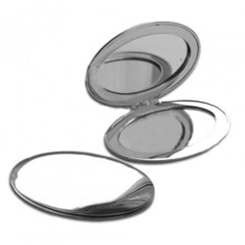 Зеркальце макияжное металлическое овальное 8.2х6см