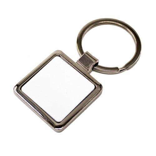 Брелок для ключей квадрат металл