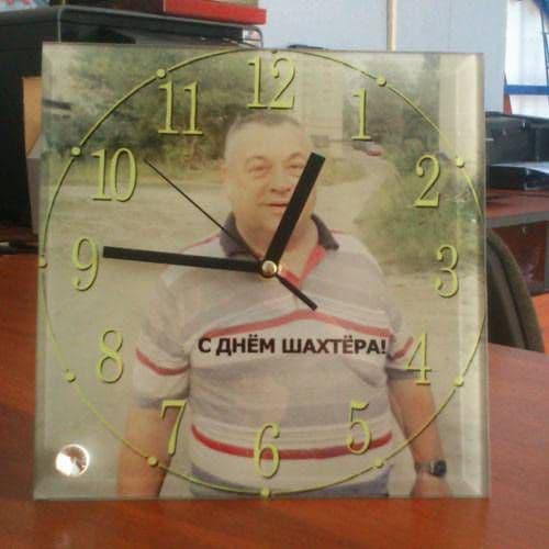 Фоторамка-часы квадратные 20*20*0,5 см, полная запечатка