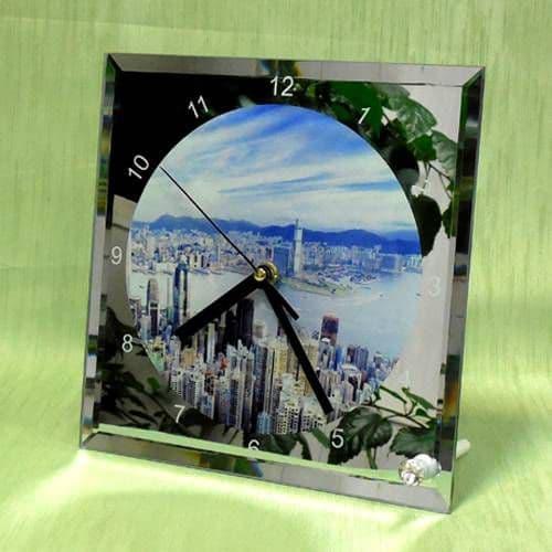 Фоторамка-часы квадратные с циферблатом 20*20*0,5 см