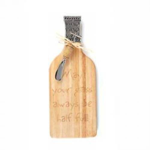Доска для резки стеклянная в виде винной бутылки 312*112*4 мм