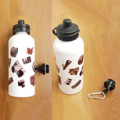 Фляжка алюминиевая с крышкой для питья БЕЛАЯ, 600мл
