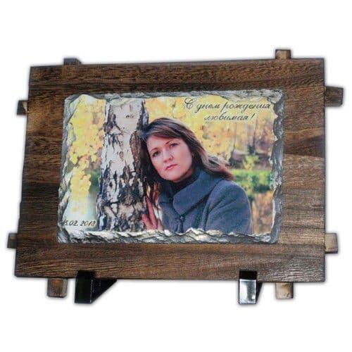 Фотокамень SH40 Прямоугольник на деревянной основе