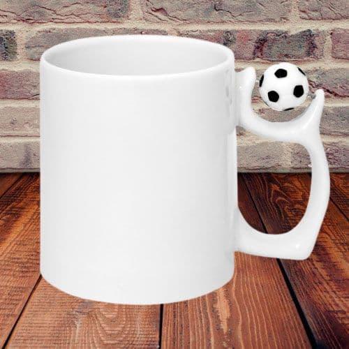Кружка с фигурной ручкой (футбол)