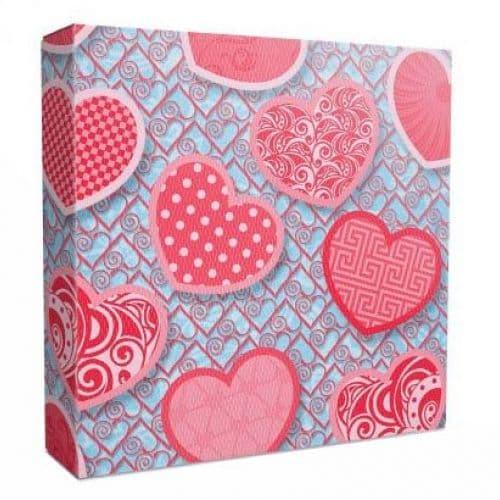 """коробка подарочная для тарелки без окна """"сердечки"""" коробки для тарелок"""