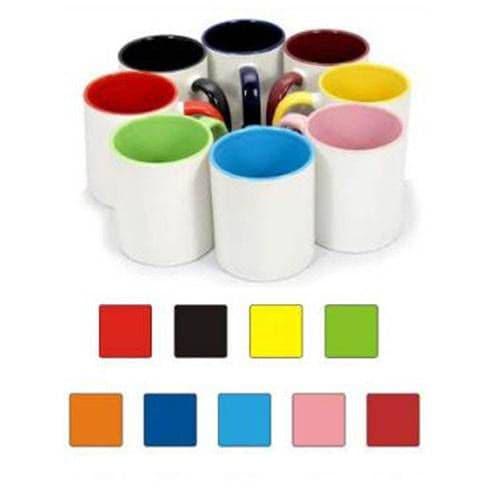 Кружка цветная внутри и ручка