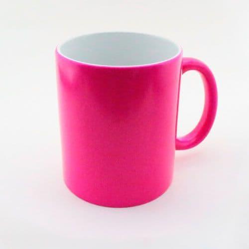 Кружка неон розовая