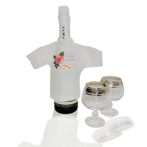 Мини-футболка сувенирная БЕЛАЯ, прима