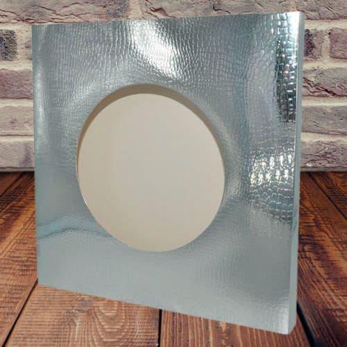 Коробка для тарелки с окном Серебро