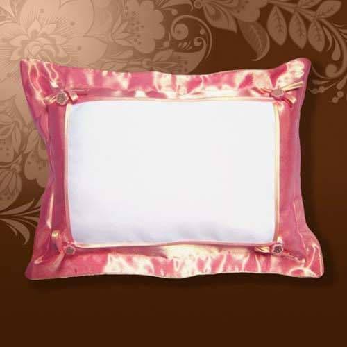 Подушка белла 45*35 розовая, на пуговицах