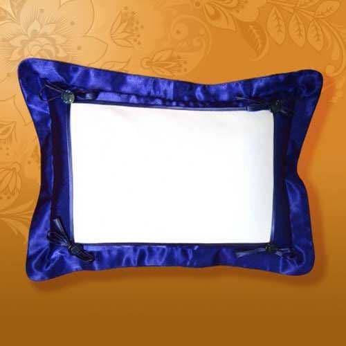 Подушка белла 45*35 синяя, на пуговицах