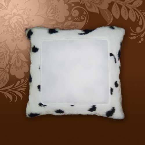 Подушка долматинец 34*34, искусственный мех