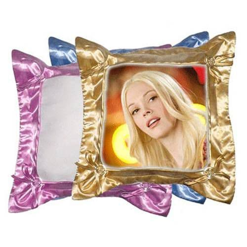 подушка с наволочкой 40*40 см жёлтая фотоподушки