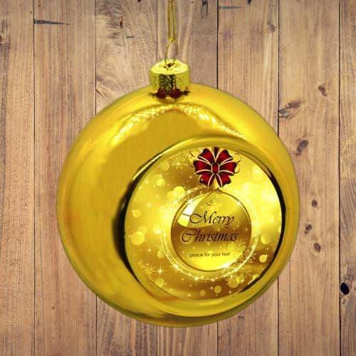 шар ёлочный золото подарки на новый год