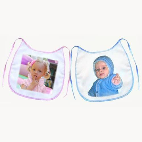 слюнявчик детский голубой кант слюнявчики
