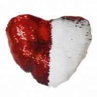 Подушка Хамелеон сердце Красная