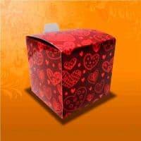 """Подарочная коробка для кружки  """"СЕРДЕЧКИ"""""""