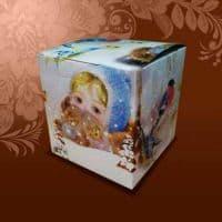 """Подарочная коробка для кружки  """"ВАРЕЖКИ"""""""