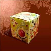 """Подарочная коробка для кружки  """"ЗЕЛЕНАЯ"""""""