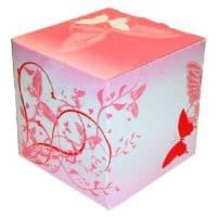 """Подарочная коробка для кружки с окном """"Бабочки"""""""