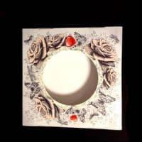 """Подарочная коробка для тарелки с окном """"Розы"""""""