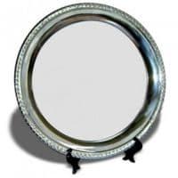Тарелка металлическая круглая d=25см