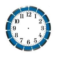 Часы MDF настенные CL-01 с вырезами 20см