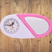 Часы для сублимации бело/розовые