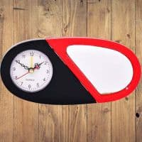Часы для сублимации черно-красные