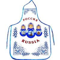 Фартук для сублимации ГОЛУБОЙ/СИНИЙ кант
