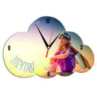 Часы  металлические Облако