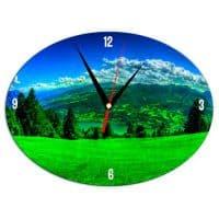 Часы металлические Овал
