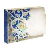 """Подарочная коробка для футболки """"Голубой орнамент"""""""