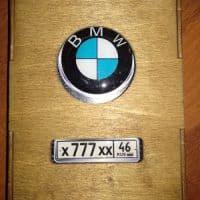 Коробка для обложки на автодокументы темный орех